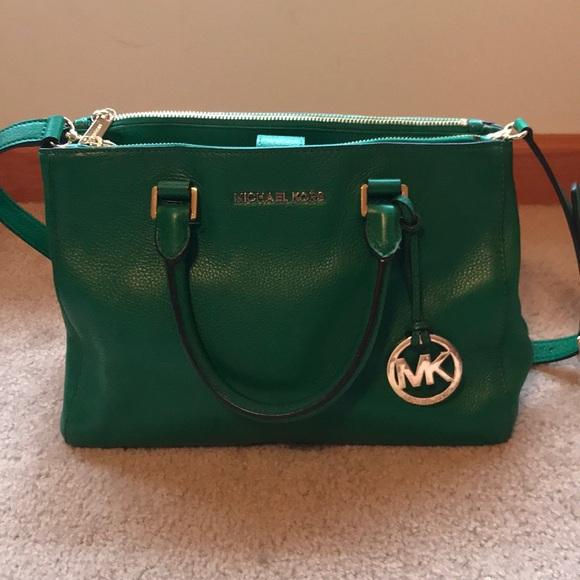Bags   Michael Kors Green Handbag   Poshmark 574410c3fb